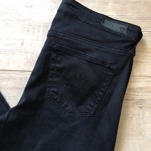 AG stilt black skinny jeans sz 27